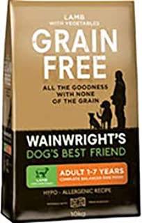 Wainwright S Grain Free Adult Complete Dry Dog Food Lamb And Vegetables 10kg Amazon Co Uk Pet Supplies