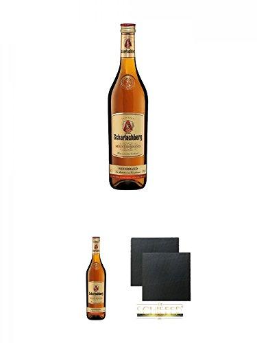 Scharlachberg deutscher Weinbrand 0,7 Liter + Scharlachberg deutscher Weinbrand 0,7 Liter + Schiefer...