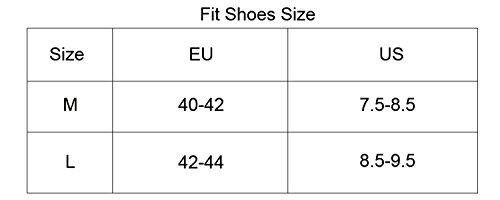 West Schuhüberzieher zum Radfahren, wasserdichte, winddichte, reflektierende, staubdichte, rutschfeste Schuh oder Überschuhe Gray-M