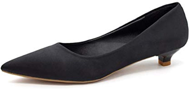 QPGGP-scarpe Sharp al Naso e Superficiale Come Unico Singolo Scarpe Le Scarpe in Autunno baitao Tazza Tacco Basso... | Tecnologia moderna  | Maschio/Ragazze Scarpa