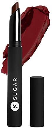 SUGAR Cosmetics Matte Attack Transferproof Lipstick - 04 Maroon Vibe (Dark Red), Red, 2 g Moisturiser, Long La