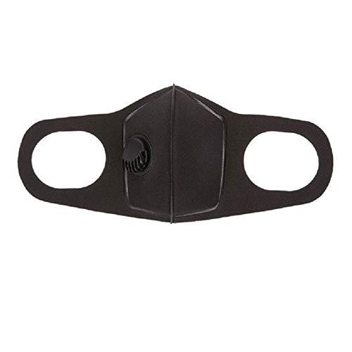 AchidistviQ Atemschutzmaske für Männer und Frauen, Antibeschlag, Pollen, Atmungsaktives Ventil, PM2.5 bequem, langlebig, beschlagfrei Schwarz