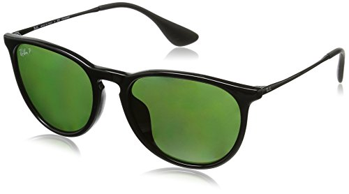 Ray-Ban - ERIKA RB 4171F ASIAN FIT, Rund, Propionat, Damenbrillen, BLACK/GREEN POLARIZED(601/2P), 54/18/145