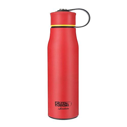 Erwachsenen-kind-böden (Thermosflasche, Doppelwandige Trinkflasche Edelstahl Wasserflasche 520 ml/ 720 ml Isolierflasche 24 Std Kalt und 12 Std Warm BPA frei Flasche für Kinder, Erwachsene, Outdoor Sport, Camping, Berg, Radfahren, Büro)
