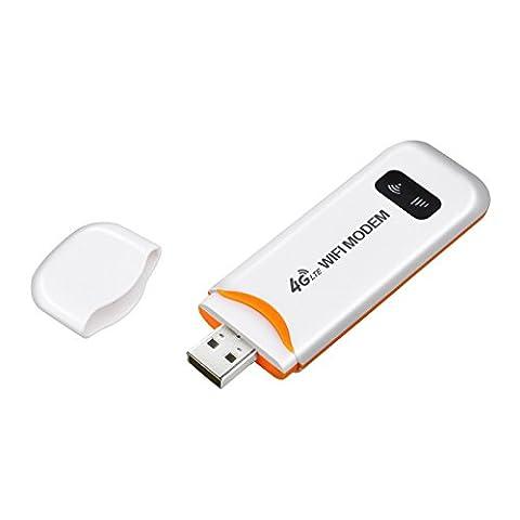 KuWFi 100Mbps Entriegelte Mini LTE USB WiFi Dongle Netzwerk Hotspot 4G / 3G Auto WiFi Router Wireless Netzwerk Hotspot Mit SIM Karte Für Outdoor Und Indoor Auf Dem Bus Oder Im Auto (SIM Karte Nicht Eingeschlossen, Muss In Lokal Kaufen) Unterstützung 4G Band1 /