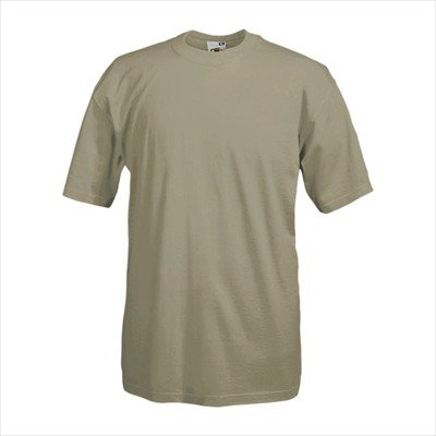 Fruit of the Loom - Heavy T-Shirt 'Super Premium T' S,Khaki (T-shirt Khaki-erwachsenen)