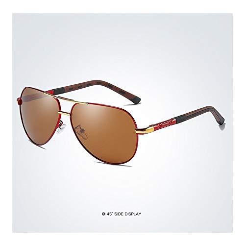 HD polarisierte Retro- große Marken-Frauen-Designer-Sonnenbrille, welche die Sonnenbrille der Männer fährt (Lenses Color : Blue)