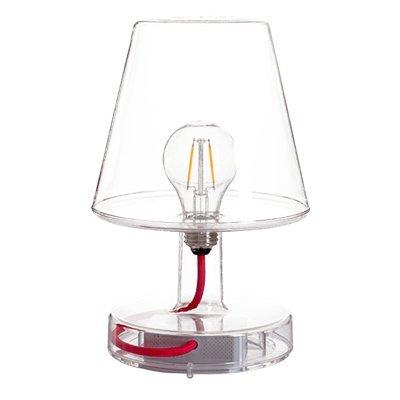 Fatboy® Lampe Transloetje Transparent | Tischlampe, Leselampe, Nachttischlampe | ohne Kabel | aufladbar mit Mini-USB -