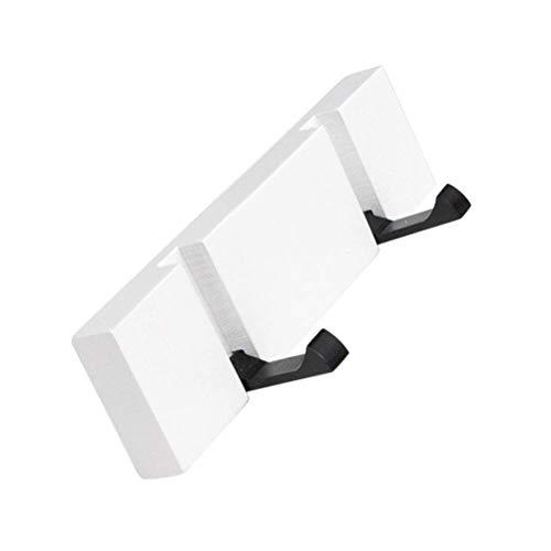 NewbieBoom Joshipin Kleiderhaken Kleiderständer aus Holz Kleiderhaken Modern und einfach Sparen Sie Platz für Jacken Mäntel Schals Taschen und mehr (Farbe, Weiß, Größe, Stil 02), Weiß