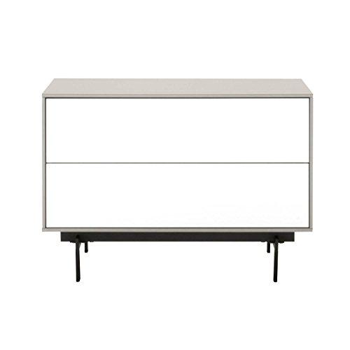 Benzara bm174101geräumiges Modular TV-Ständer, Holz, Weiß und Schwarz, One Size -