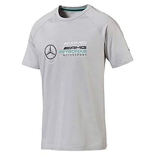 Mercedes AMG Petronas Men's Mercedes Amg Logo Tee Gray, XXL T-Shirt, Grey, XX-Large