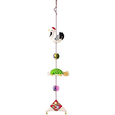 Hamanaka Kit de crepe serie patroen de impresioen ornamento colgante Tsurukame H409-010 Disenado por Katsuko