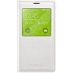 Samsung EF-CG900BWEGWW Etui en simili cuir pour Samsung Galaxy S5 Blanc