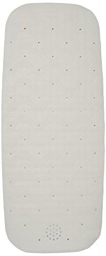 Rayen 2326.11 Badewannenmatte mit Saugnäpfen, 37 x 90 cm, weiβ