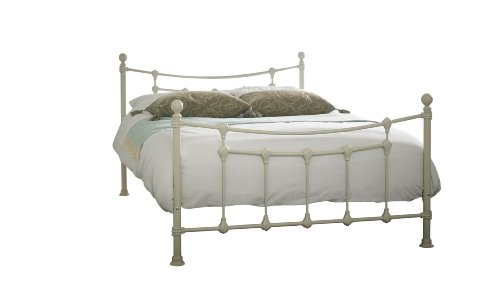 Chester Small Double 4ft Metal Bed Frame - Textured Cream