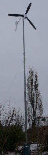 Windgenerator Black 600-12V inkl. Laderegler