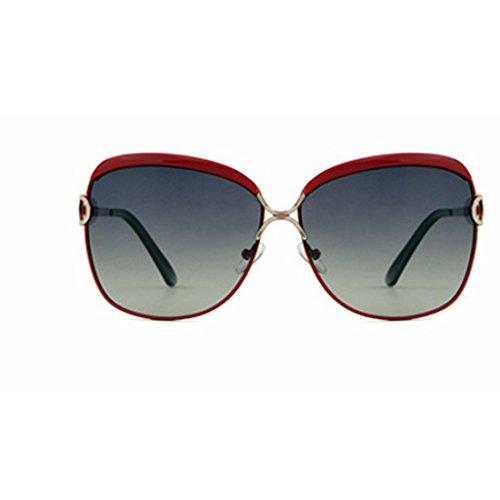 Yiph-Sunglass Sonnenbrillen Mode Schützen Sie Sich gegen UV-Strahlen Damen Sonnenbrille Star Retro Polarizing Sonnenbrille (Farbe : Red)