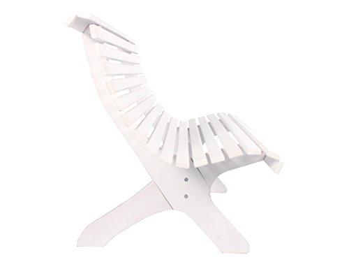 Trendy-Home24 stabile ergonomische große Sitzbank Parkbank Holzbank Gartenbank 140 cm breit (Weiß) - 3