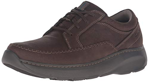 Clarks Casual Oxford (Clarks Men's Charton Vibe Brown Nubuck Casual Oxford Shoes US 8.5)