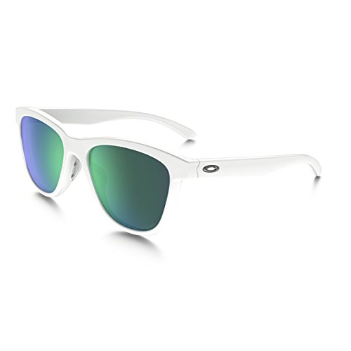 Oakley Damen Sonnenbrille Moonlighter Weiß (Polished White/Jadeiridiumpolarized), 53