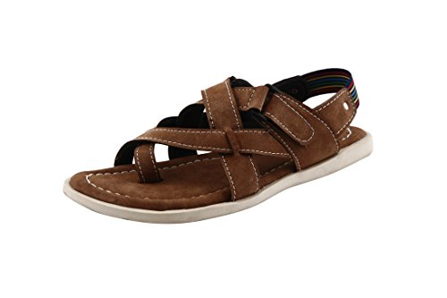 BACCA-BUCCI-MEN-BROWN-SYNTHETIC-SANDALS