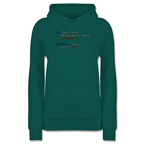 Shirtracer Programmierer - Java Developers - S - Türkis - JH001F - Damen Hoodie