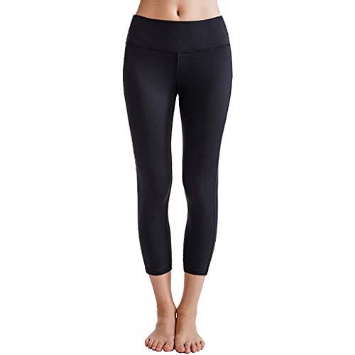 Beudylihy Prospekthalter Women's Sports Trousers Opaque Yoga Sport Pants Long Opaque High Wasit with Pocket Trousers Long Running Trousers with Pockets -