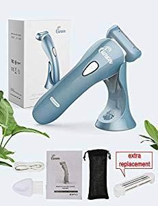 Eunon Rasierer Damen - Nass & Trocken Wasserfest Elektrischer Lady Shaver Elektrorasierer Schmerzloser Kabelloser für Frauen die Körperbehaarung an den Beinen und Achseln LCD Bildschirm