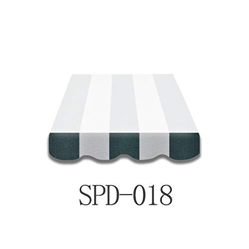 Home & Trends Markisen Volant Markisenbespannung Ersatzstoffe SPD018 Grün Weiß Maße 3 x 0.23 m Markisenstoffen fertig genäht mit Bordeux (Grün Volant Weiß)