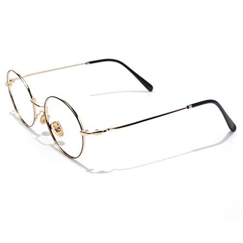CGID Rundes Brillengestell Metallrahmen 2019 Neue Mode nicht verschreibungspflichtige Brille für Damen und Herren, 48,5 mm