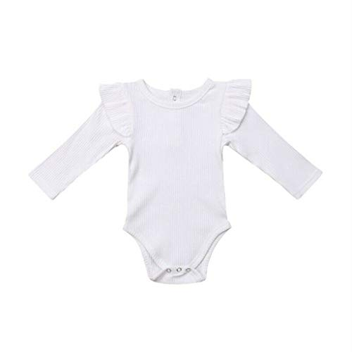 Frühchen Strampler Toddler Long Sleeve Ruched Solid Romper Bodysuit Clothes Red Long Sleeve Teddy