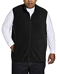 Amazon Essentials Herren Fleece-Weste mit durchgehendem Reißverschluss