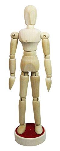 Honsell 63514 - Modellpuppe aus naturbelassenem Hartholz, magnetisch, ca. 12 cm
