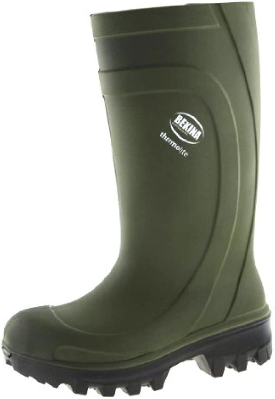 BEKINA PU Stiefel Sicherheits Stiefel Thermolite   Winter Stiefel DIN EN ISO 20345 S4 CI   grün   Größe: 43