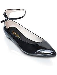 fcbb2d232750 Mifani-Black Flat Patent Shoes Size  3