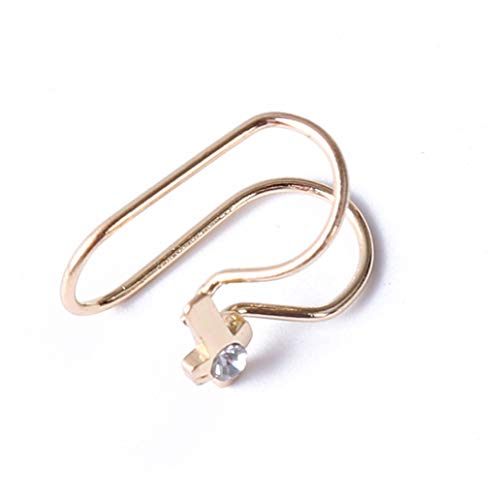 KISSFRIDAY Golden Cross Ohrclips Nicht Piercing Ohrringe Hoop Ohr Manschetten Knorpel Ohrclips Set für Männer Frauen - Herz-manschette