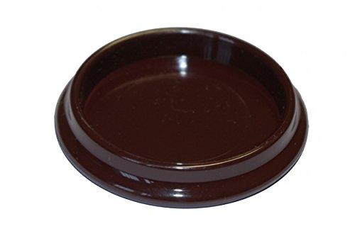 peha® Möbeluntersetzer / Klavieruntersetzer / Gleitschale - mahagoni, rund | Ø 33 mm (4 Stück) (Klavier Untersetzer Für Teppich)