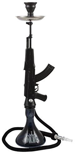 MOB AK47 Gun Cachimba - Shisha AK47 Negro, con forma de rifle, hookah, narguile