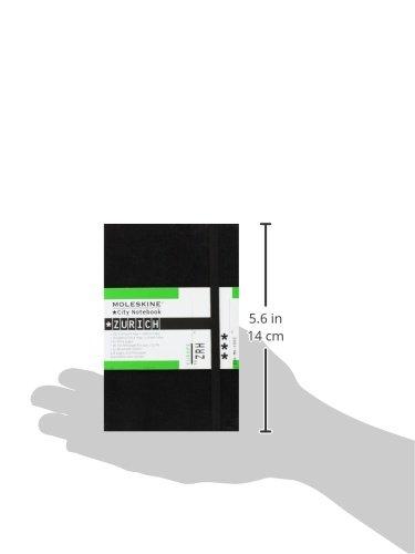 Moleskine City Notebook ZÜRICH Couverture rigide noire 9 x 14 cm
