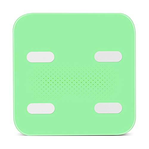 Gewicht-Skala-intelligente Körperfett-Skala Genaue Fettmessung Erwachsene Gewicht-Verlust-weibliche Haushalts-Körper-Skala-elektronisches Wiegen ZJING (Color : Green) - Essen-gewicht-digital-skala