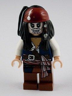 LEGO Piraten der Karibik: Minifigur Kapitän Jack Sparrow (Skeleton) (Jack Sparrow Zubehör)