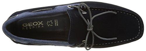Geox U SNAKE MOC. I, Mocassins (loafers) homme Bleu (Navy/Lt Navycf4B4)