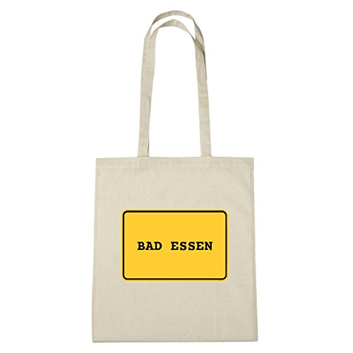JOllify Bad Essen di cotone felpato B1850 schwarz: New York, London, Paris, Tokyo natur: Ortsschild