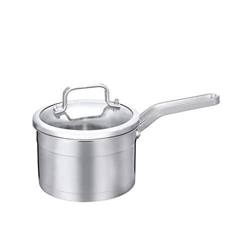 JXLBB Petit pot à lait en acier inoxydable 304 Petit pot épais Pot antiadhésif Pot à nouilles Pot à lait chaud Complément alimentaire pour bébé Pot