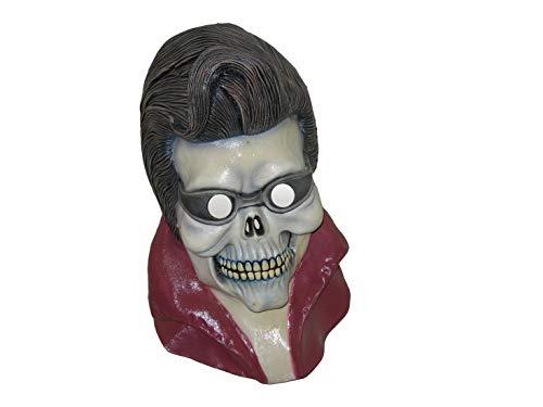 Karnevalsbud - Kostüm Accessoires Zubehör Horror Latex Maske Rock n Roll Elvis, perfekt für Halloween Karneval und Fasching, Mehrfarbig