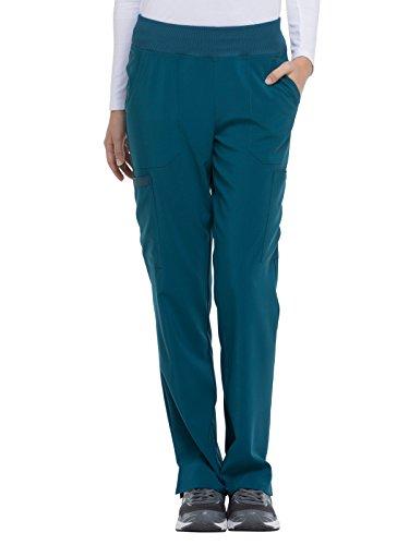 Dickies EDS Essentials by Women's Knit Waistband Scrub Pant Medium Tall Caribbean Blue