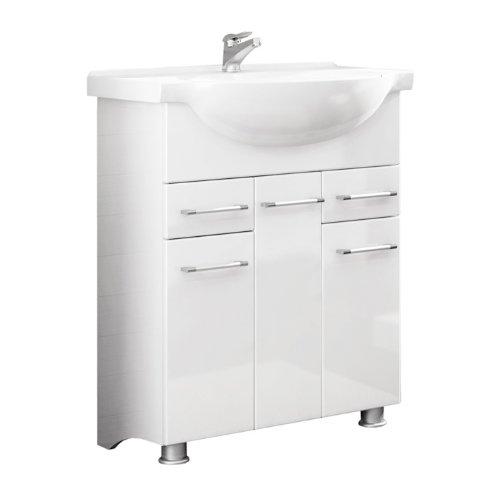 Quentis Waschplatz Neris 85, 2-teilig, weiß glänzend