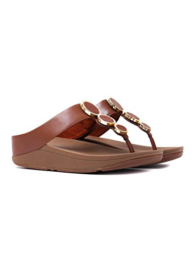 FitFlop Damen Halo Toe Thong Sandals Plateausandalen Braun