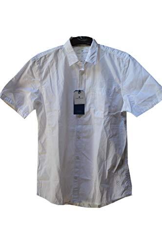 Preisvergleich Produktbild TOM TAILOR Herren ray solid Detail Hemd Baumwolle hertseller Gr. M
