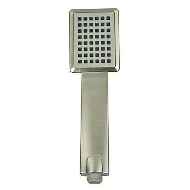Nickel-dusche-kopf (Zeitgenössische ABS Rechteck Griff Dusche Kopf-Nickel gebürstete Oberfläche)
